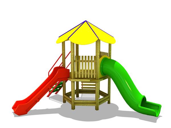ahşap çocuk oyun parkı sg03n