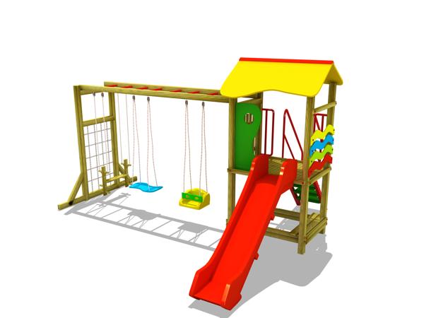 ahşap çocuk oyun parkı sg04n