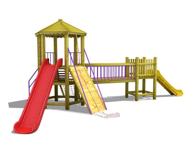 ahşap çocuk oyun parkı sg05n