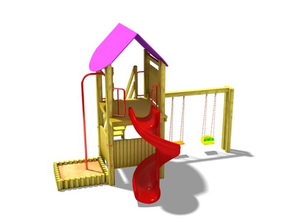 ahşap çocuk oyun parkı sg06n