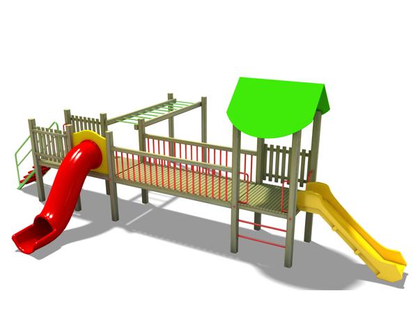 ahşap çocuk oyun parkı sg07n
