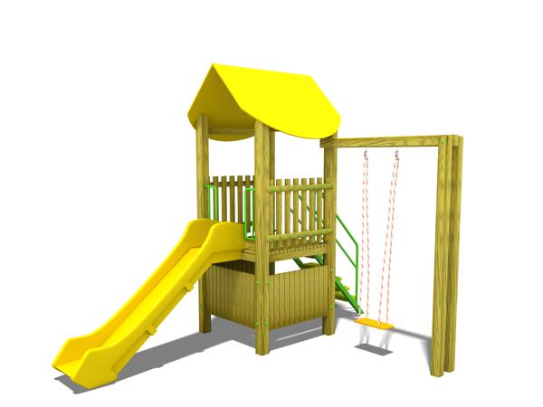 ahşap çocuk oyun parkı sg09n