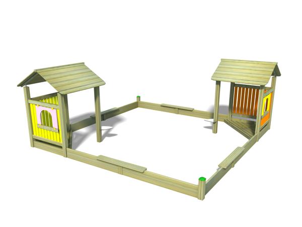 ahşap çocuk oyun parkı sg16n
