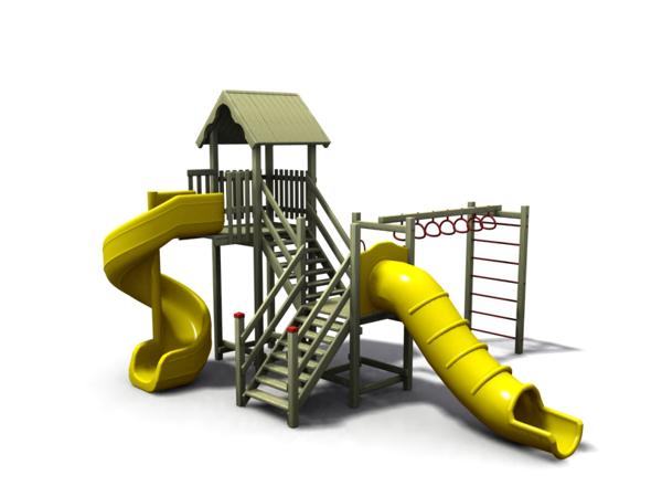 ahşap çocuk oyun parkı sgt-100