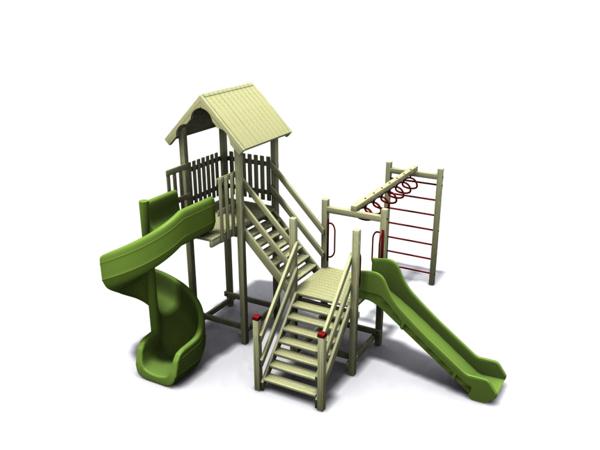 ahşap çocuk oyun parkı sgt-102