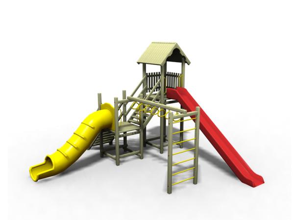 ahşap çocuk oyun parkı sgt-103