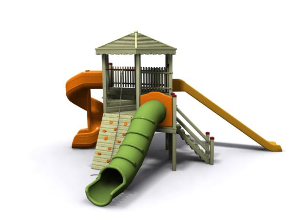 ahşap çocuk oyun parkı sgt-105
