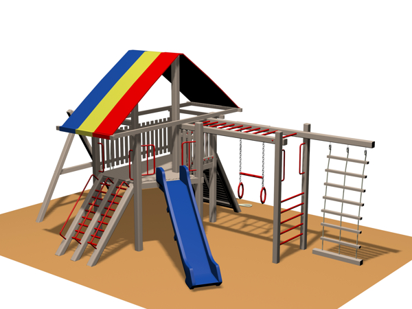 ahşap çocuk oyun parkı sgt 106n